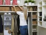 woman putting things away